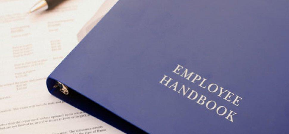 employee handbook cover design template - tools for creating an employee handbook