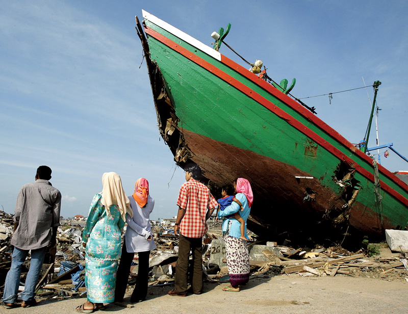 <strong>INDONESIA, 2004</strong> The Asian tsunami created uncertainty—and hence risk—across a broad region.