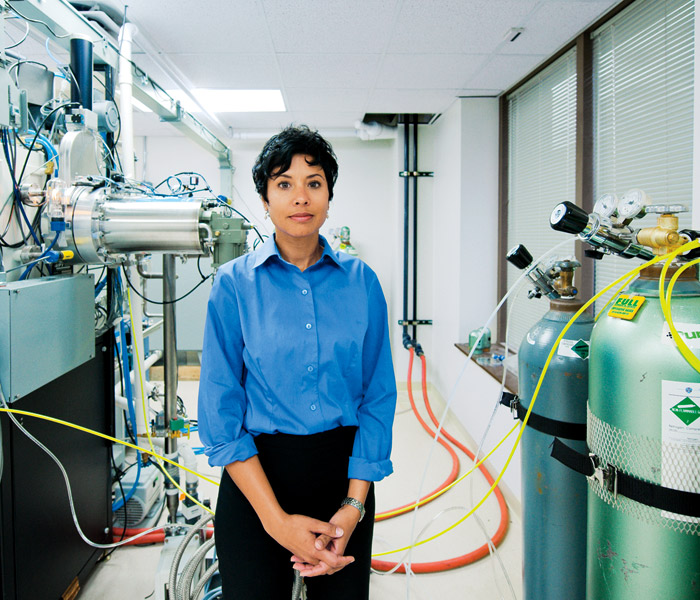<strong>THE CELLULAR LEVEL</strong> Ann Marie Sastry of Sakti3, a Michigan battery maker. Her goal is to make a battery pack that is half the weight and half the cost of the Volt's.