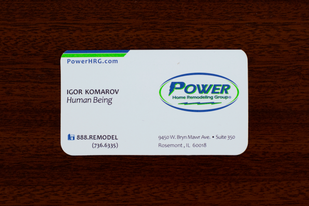 A powerful message you can send with your business cards for Business card title