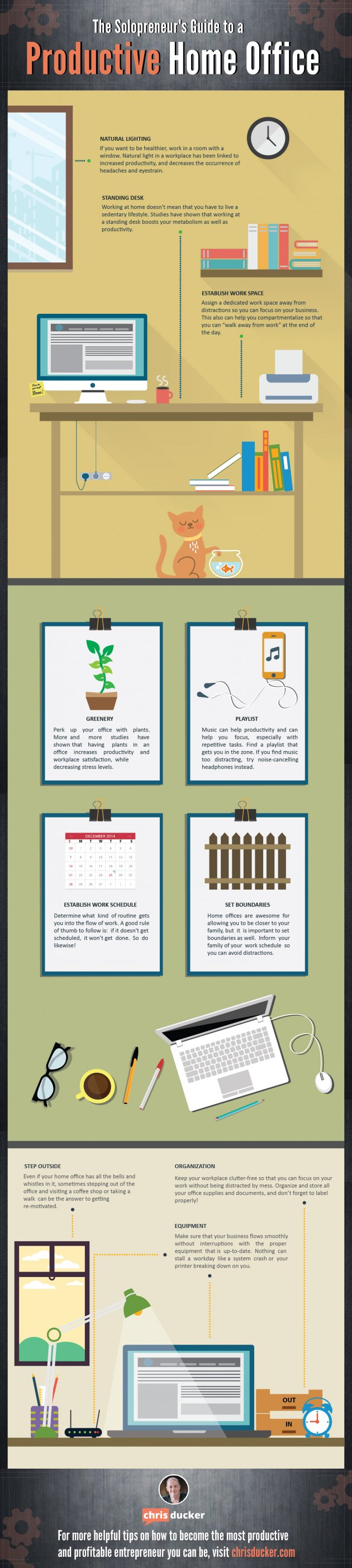 Infographic: The best way to Be Productive in Your Pajamas Solopreneur Productive Home Office 37581