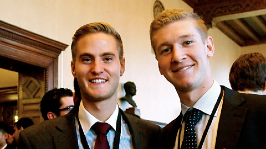 Andres Blumer (left) and Ryder Fyrwald (right) presented a Humantelligence Study the first day of the Kairos Global Summit 2012—held at the New York Academy of Medicine.