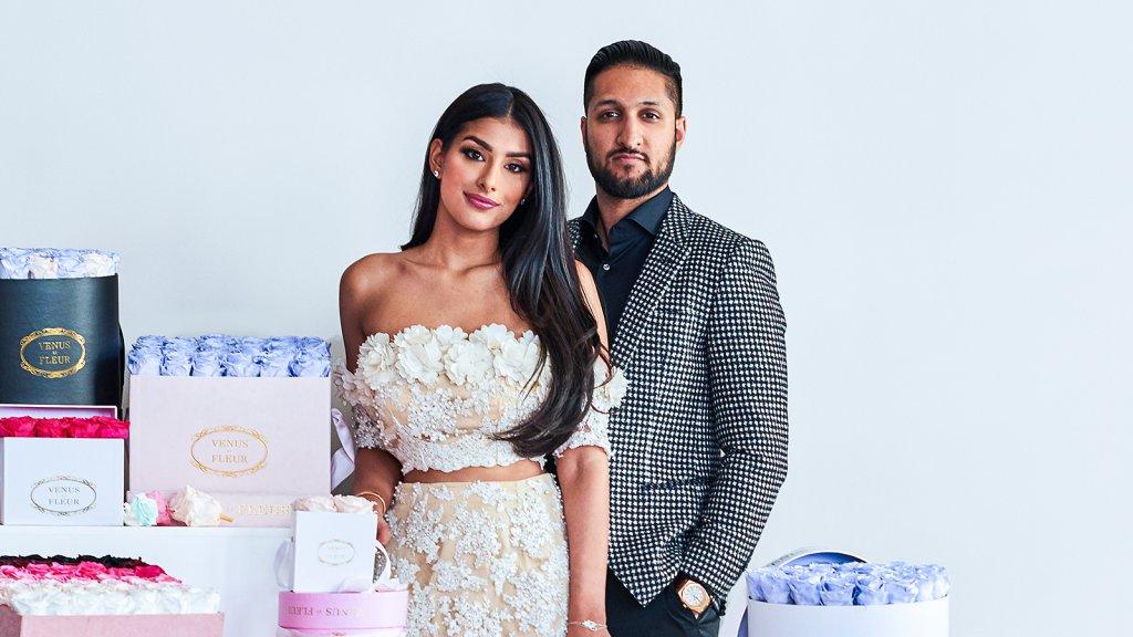 Venus Et Fleur co-founders Seema Bansal and Sunny Chadha.
