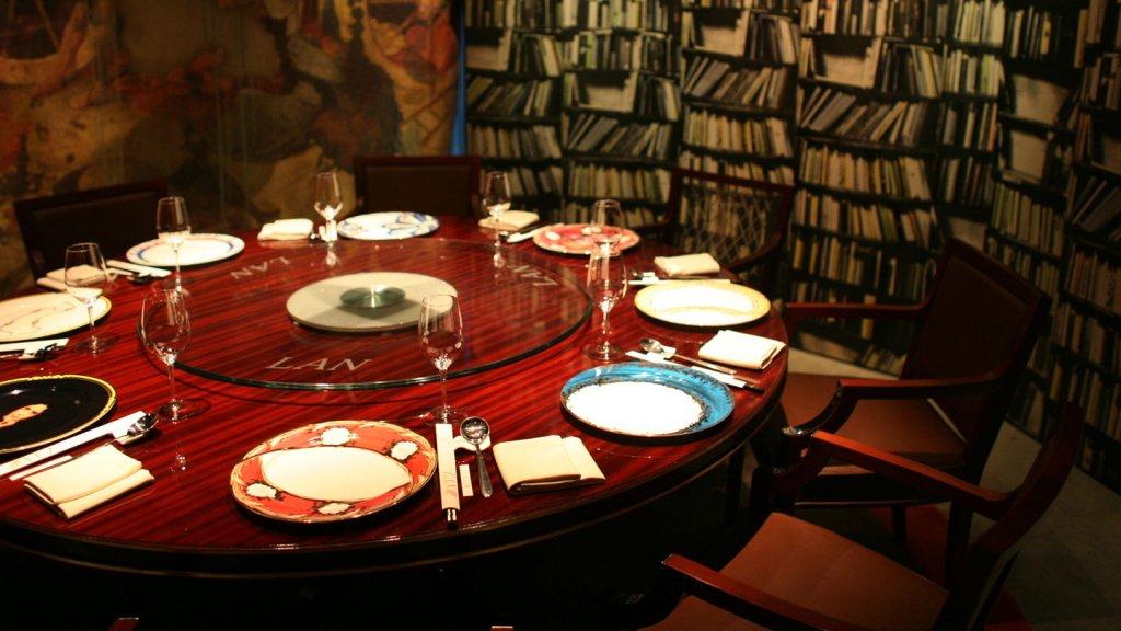 A private dining room at Lan's in Beijing, China.
