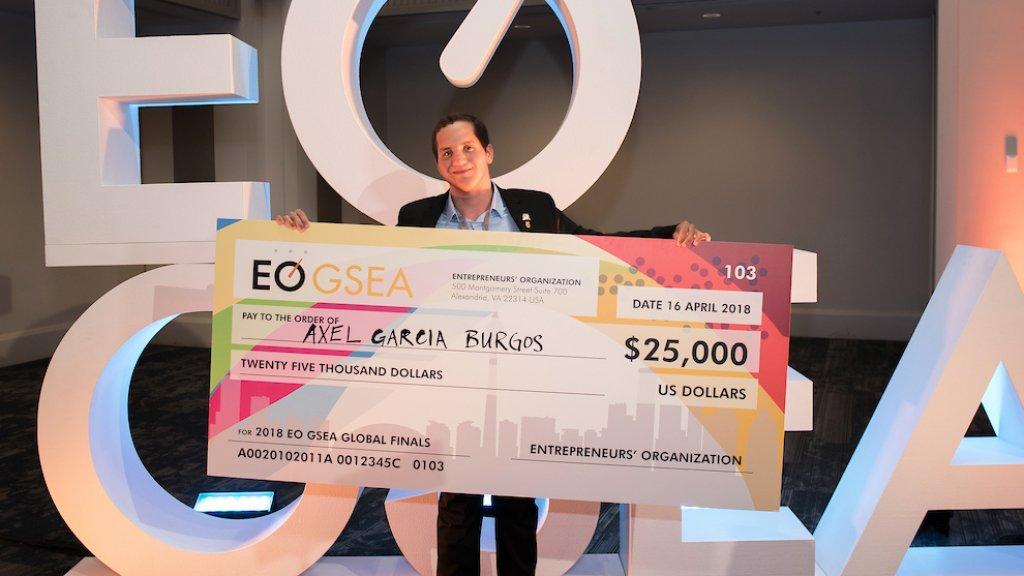 Axel Garcia Burgos is the 2018 EO GSEA Global Champion.
