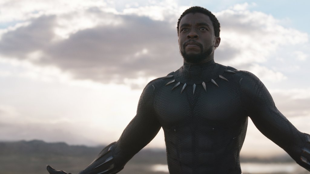 """Chadwick Boseman as King T'Challa in 2018's hit film """"Black Panther."""""""