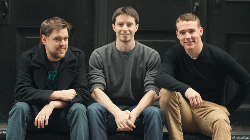 When Pete Kistler (center) went to get a job, he had some bad press from other people he needed to minimize. He, Evan Watson (left), and Patrick Ambron (right) launched BrandYourself to resolve such issues for others.