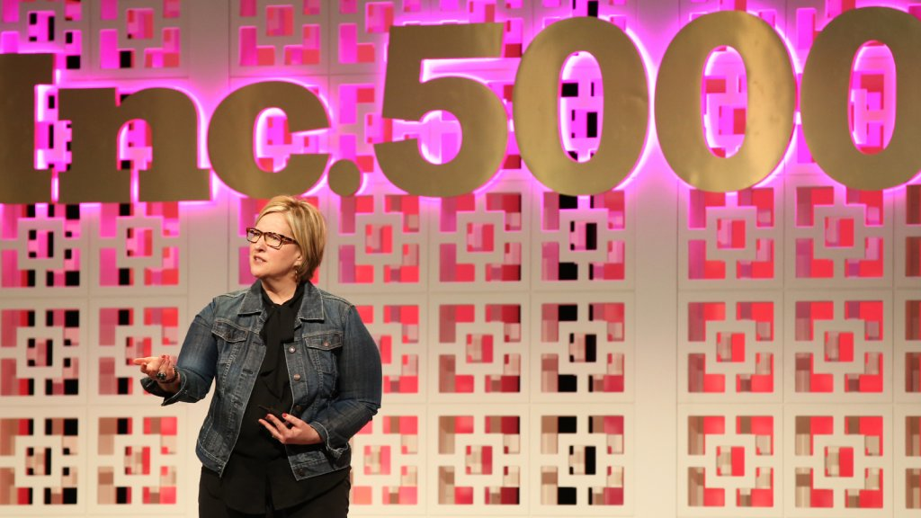 Dr. Brené Brown speaks at the Inc. 5000 Conference in Palm Springs.