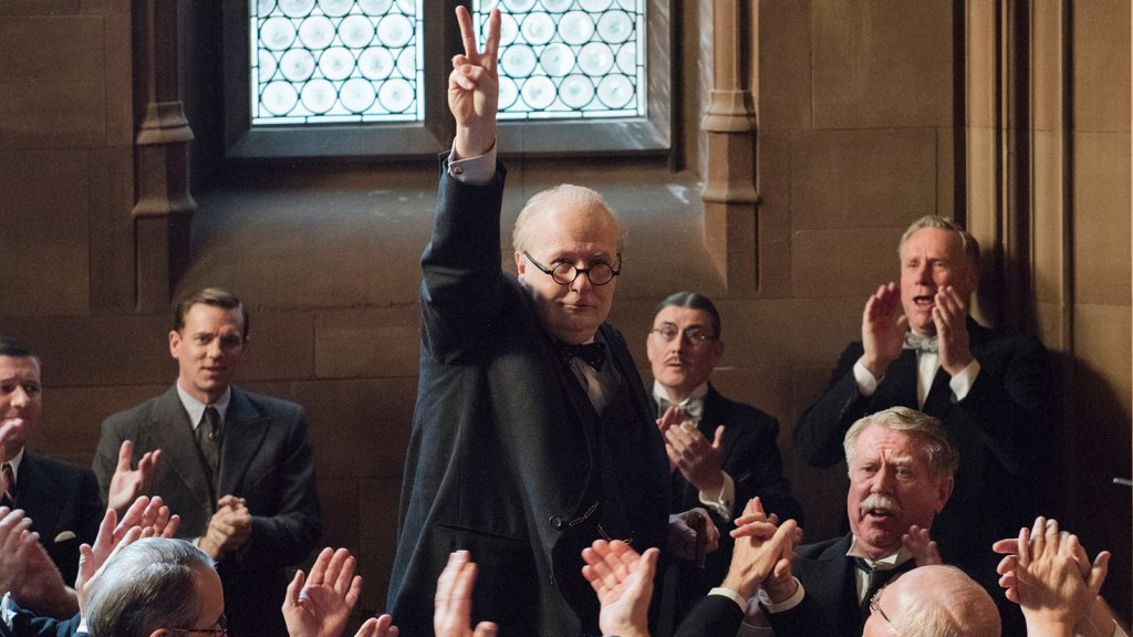 Gary Oldman as Winston Churchill in DARKEST HOUR, a Focus Features release.