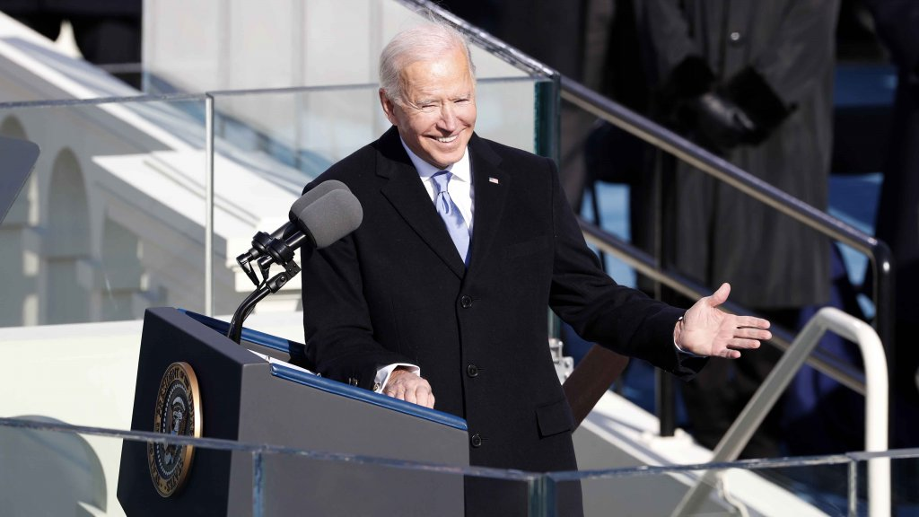 Biden's Inaugural Message: 'This is Democracy's Day'