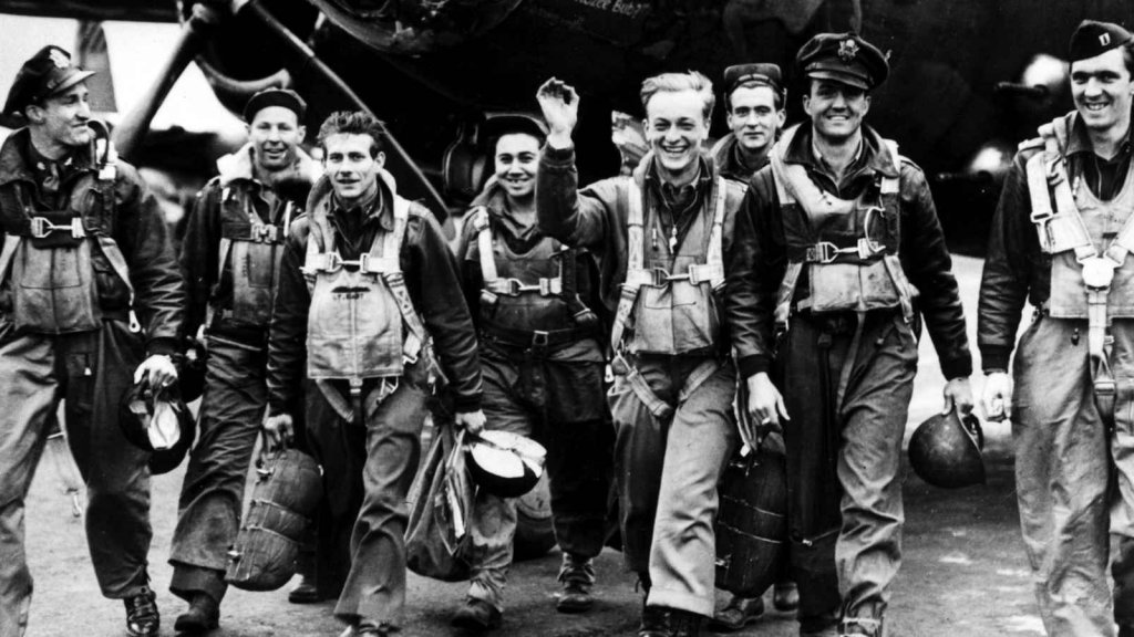 In June 1944, members of the U.S. Ninth Air Force return from supporting the D-Day invasion of Nazi-occupied France. Half of all American World War II veterans eventually became entrepreneurs.