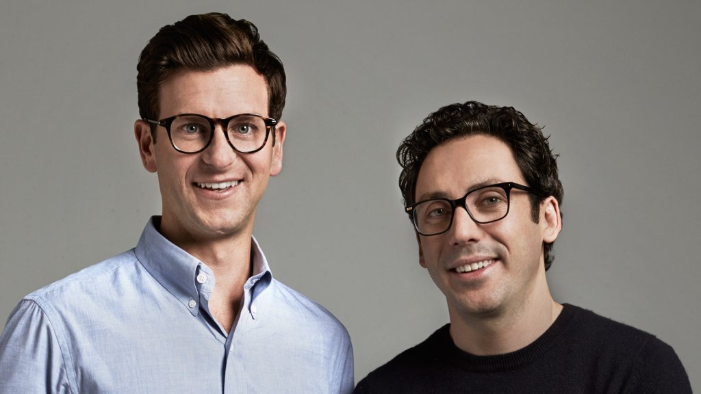 Warby Parker co-founders Dave Gilboa (left) and Neil Blumenthal.