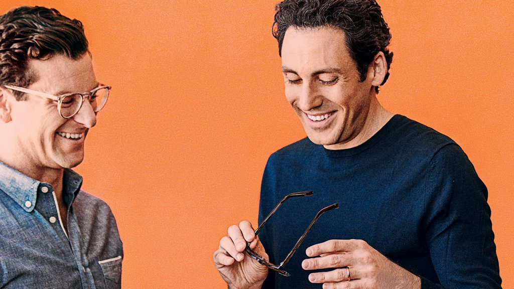 """Nothing we're doing is rocket science. They're things that make sense for customers."" –Dave Gilboa (left) of online eyeglasses retailer Warby Parker, with his co-founder and co-CEO Neil Blumenthal."