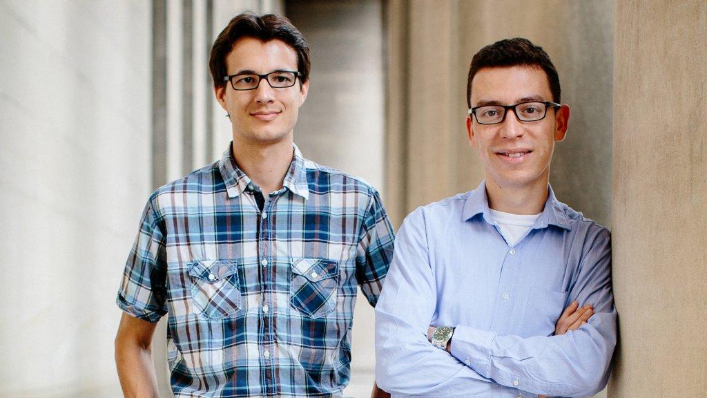 Duolingo co-founders Severin Hacker (left) and Luis von Ahn.