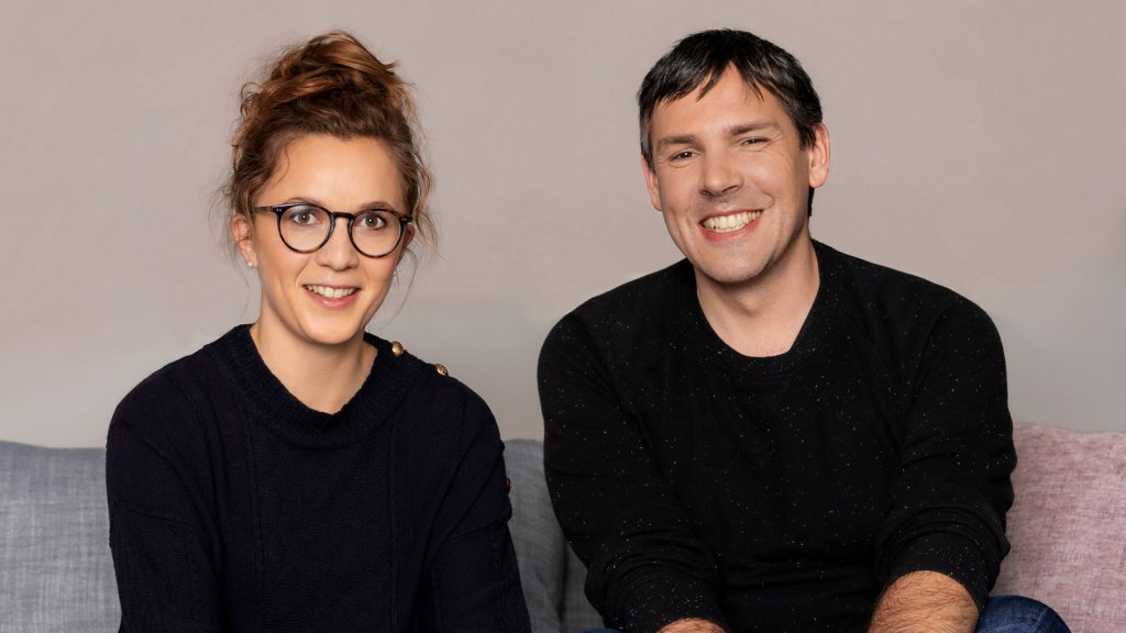 Mathilde Collin (left), co-founder-and-CEO of Front, and Laurent Perrin, co-founder and CTO.