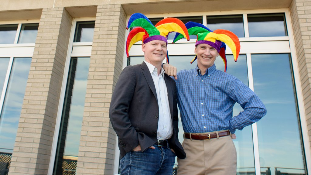 Motley Fool co-founders Tom (left) and David Gardne.