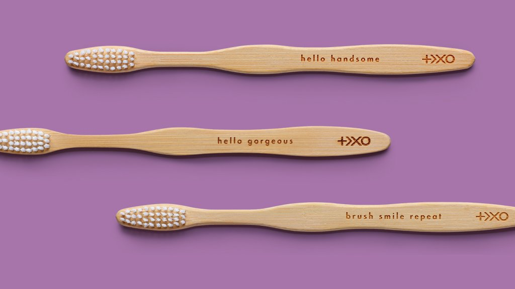 Plus Ultra's biodegradable bamboo toothbrushes.