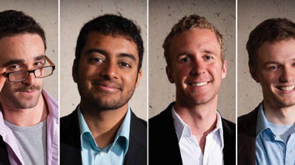 Daniel Epstein, Teju Ravilochan, Tyler Hartung, and Vladimir Dubovsky, founders of the Unreasonable Institute.