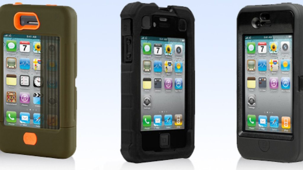 Lef to right: Tank by Case-Mate; Ballistic Hard Core Case; Otterbox Defender Series