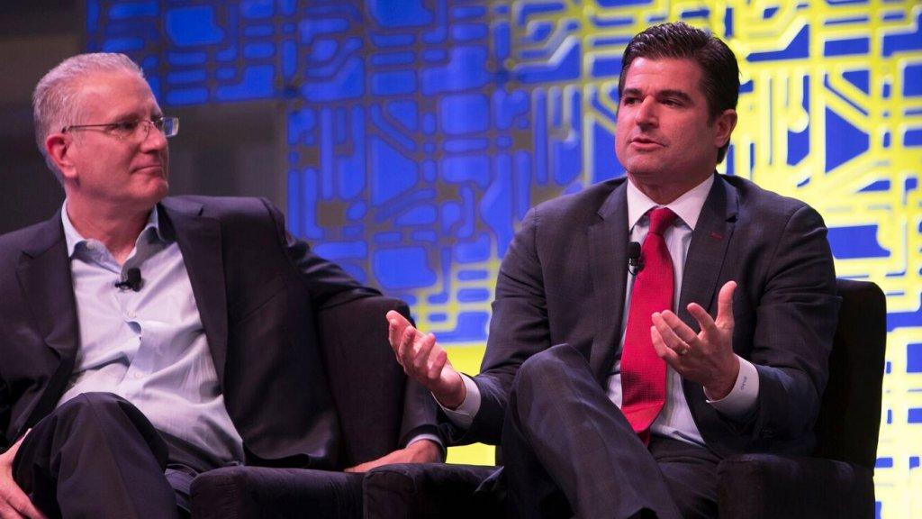 Harris Blitzer Sports & Entertainment CEO Scott O'Neil (right).