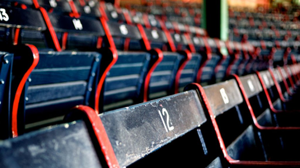 Empty seats at Fenway Park in Boston. Massachusetts has 7.43 percent of the total jobs listed at StartupHire.com for  all of 2011.