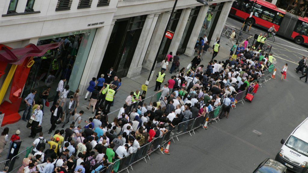People Are Creating Massive Lines Outside Apple Stores to Score an iPhone X (Days Before Launch)