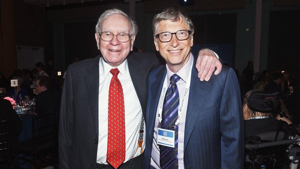 Warren Buffett and Bill Gates.