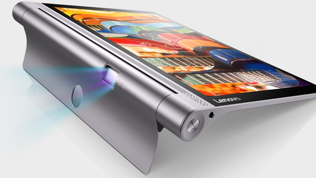 The Lenovo Yoga Tab Pro 3 features a range of poses and a built-in projector.