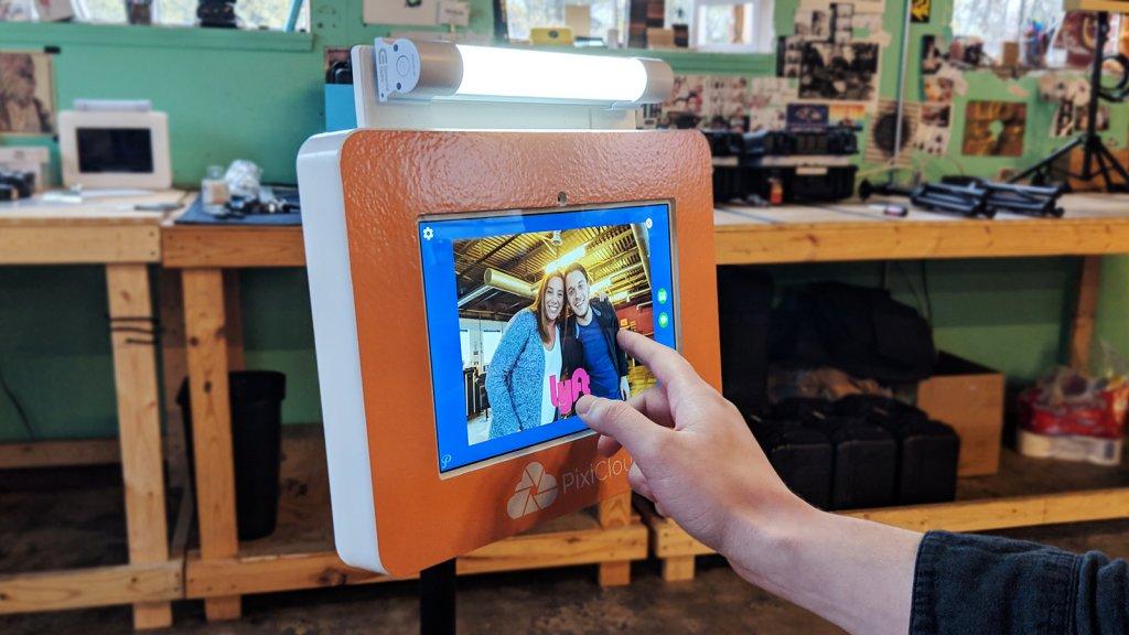 Pixilated's PixiTAB selfie kiosk.