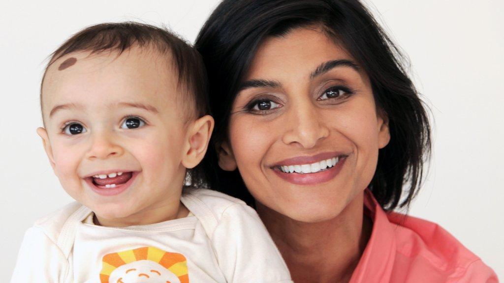 Happy Family CEO Shazi Visram with her son Zane.