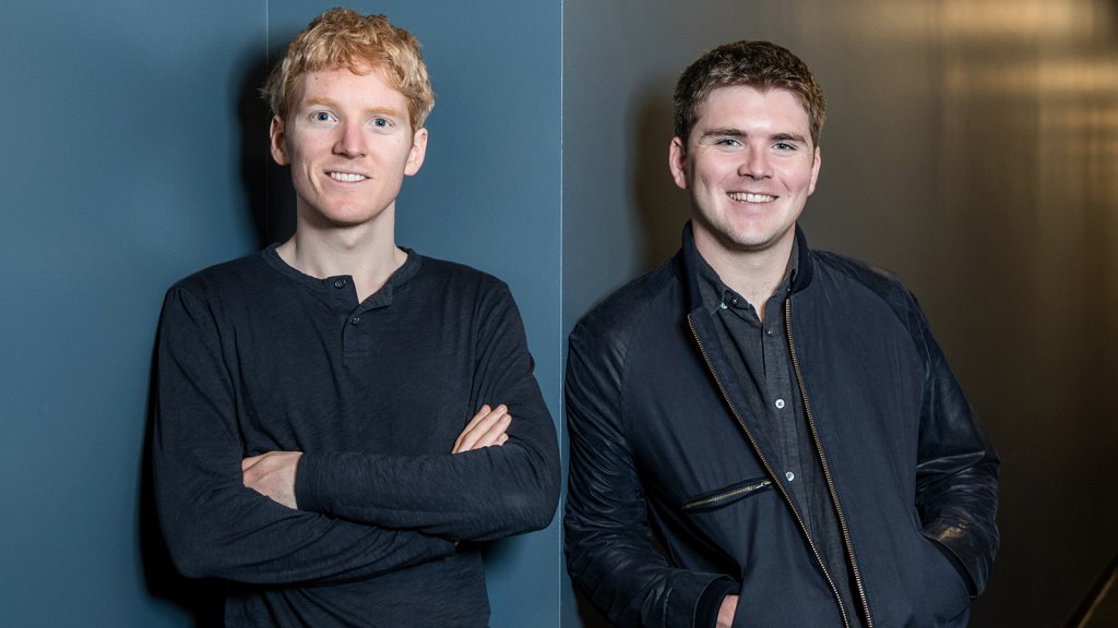 Left to right, Patrick and John Collison are the brothers behind payments startup Stripe.