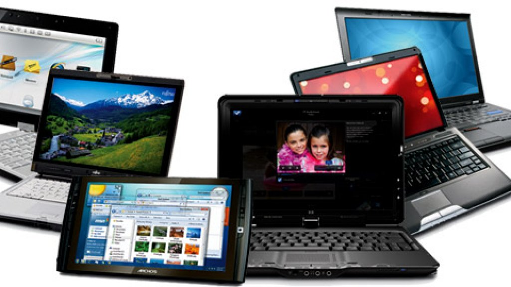 <strong>FROM LEFT</strong> ASUS T91MT, FUJITSU LIFEBOOK T5010, ARCHOS 9PCTABLET, HP TOUCHSMART TX2, TOSHIBA SATELLITE U505 TOUCH S2980, LENOVO THINKPAD T400S