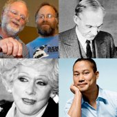 Top left to bottom: Ben Cohen and Jerry Greenfield, co-founders of Ben & Jerry's Homemade; Henry Ford, Founder of Ford Motor Company; Mary Kay Ash, Founder of Mary Kay Cosmetics; Tony Hsieh, CEO of Zappos