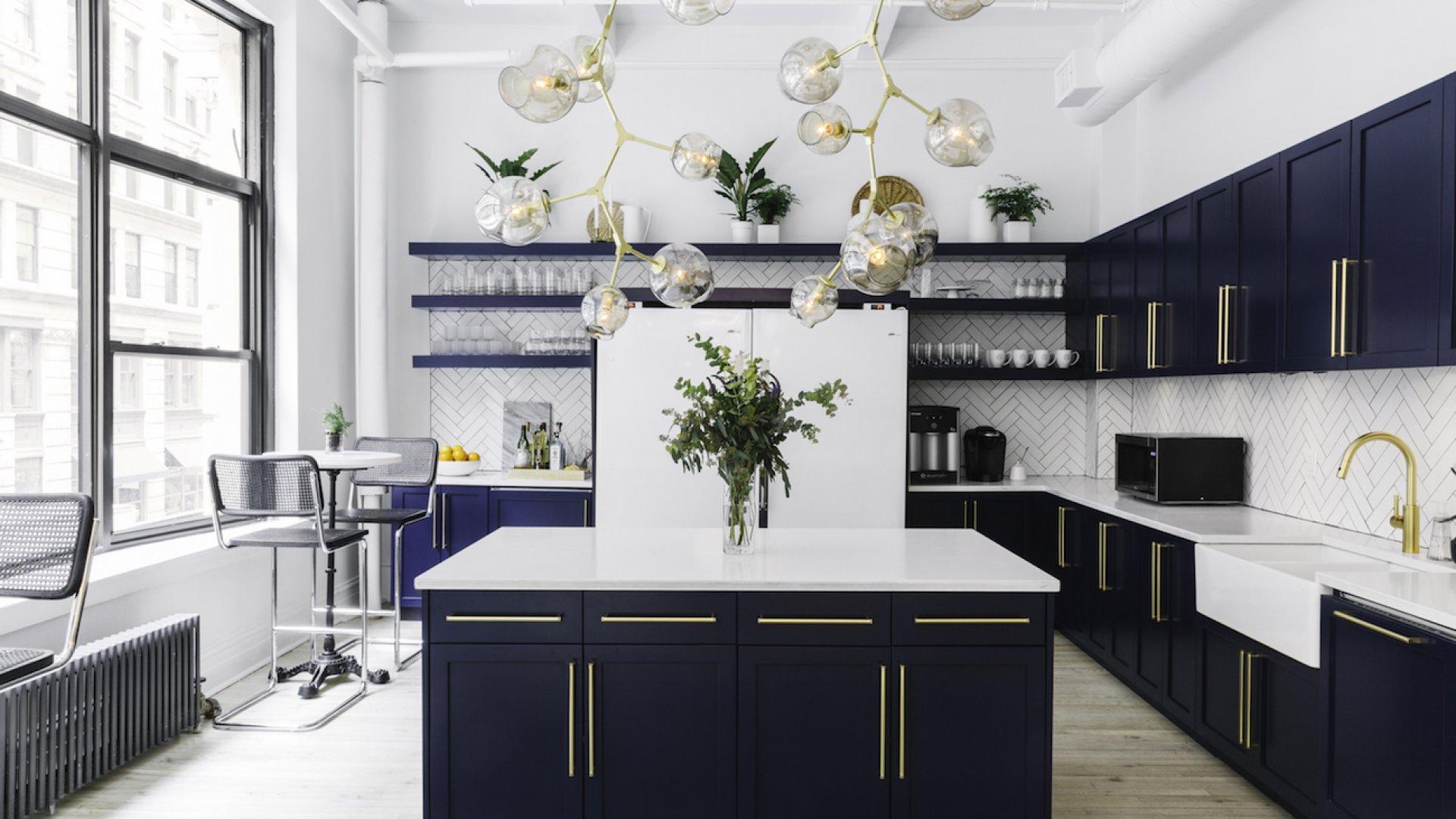 The Homepolish office kitchen.