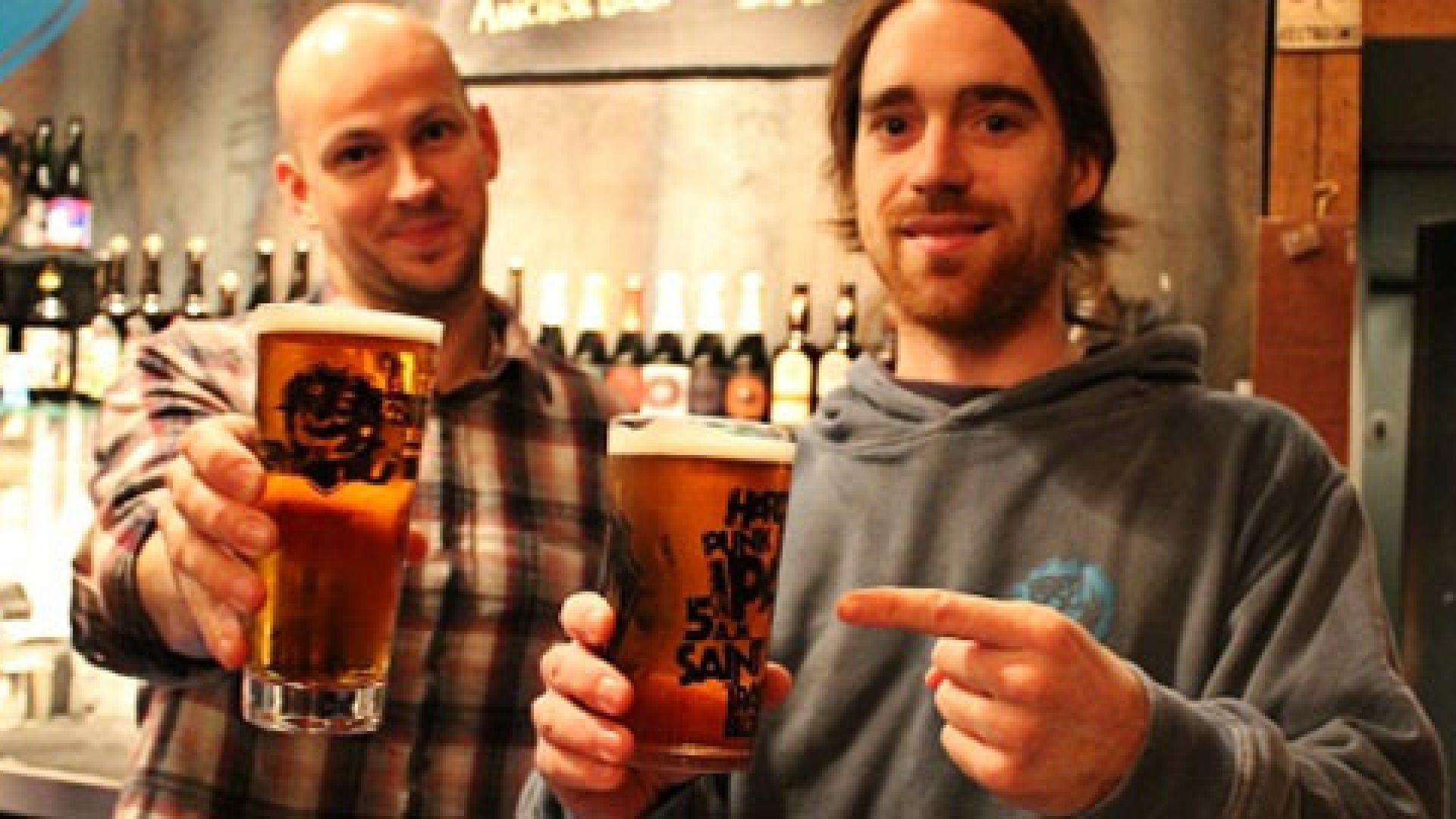 Brewdog founders James Watt and Martin Dickie.