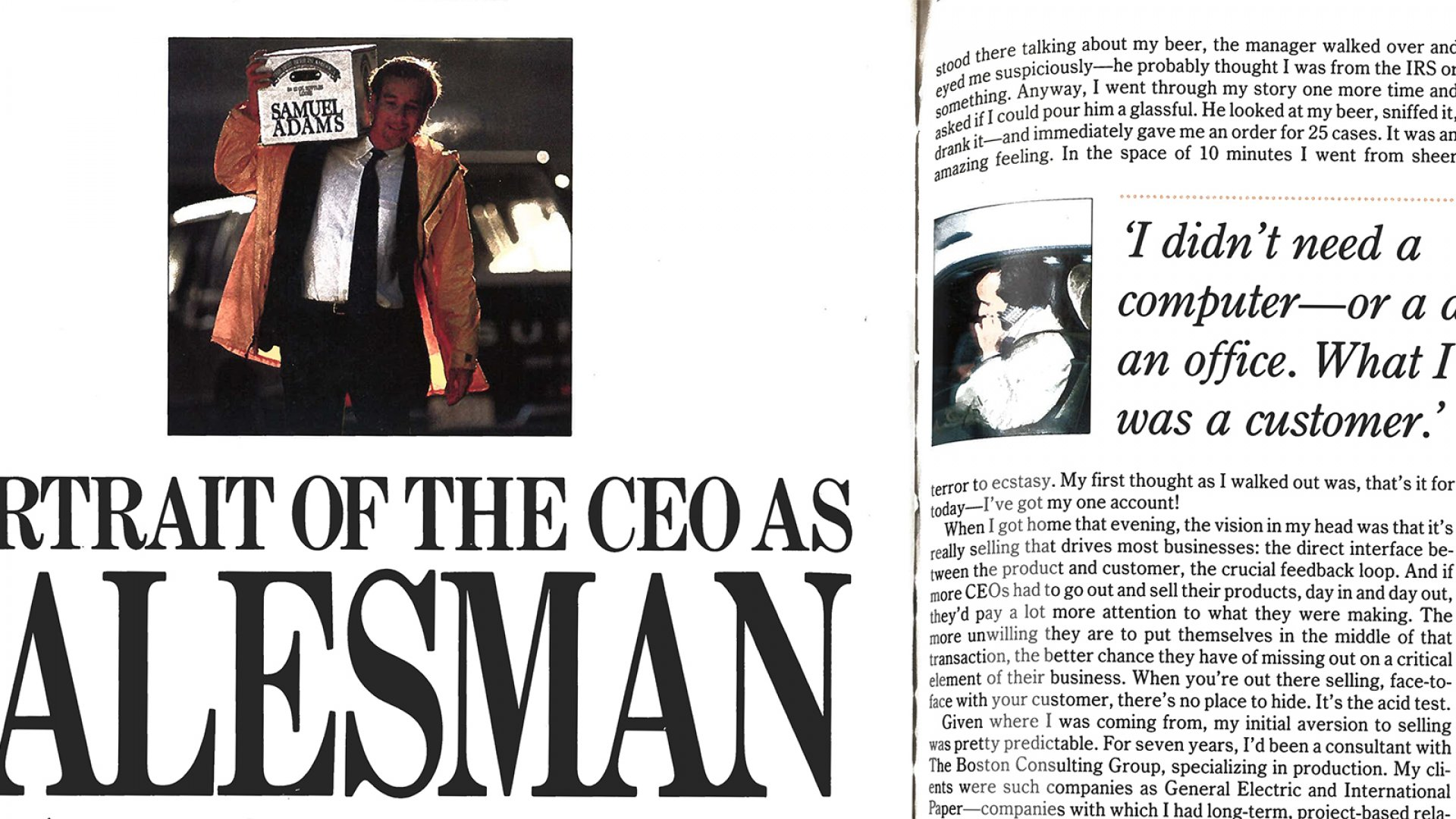 Boston Beer's Jim Koch: Portrait of the CEO as Salesman (1988 Story)