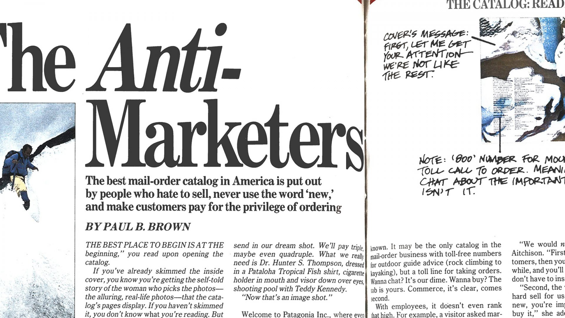 In 1988, Patagonia Was Full of Anti-Marketers