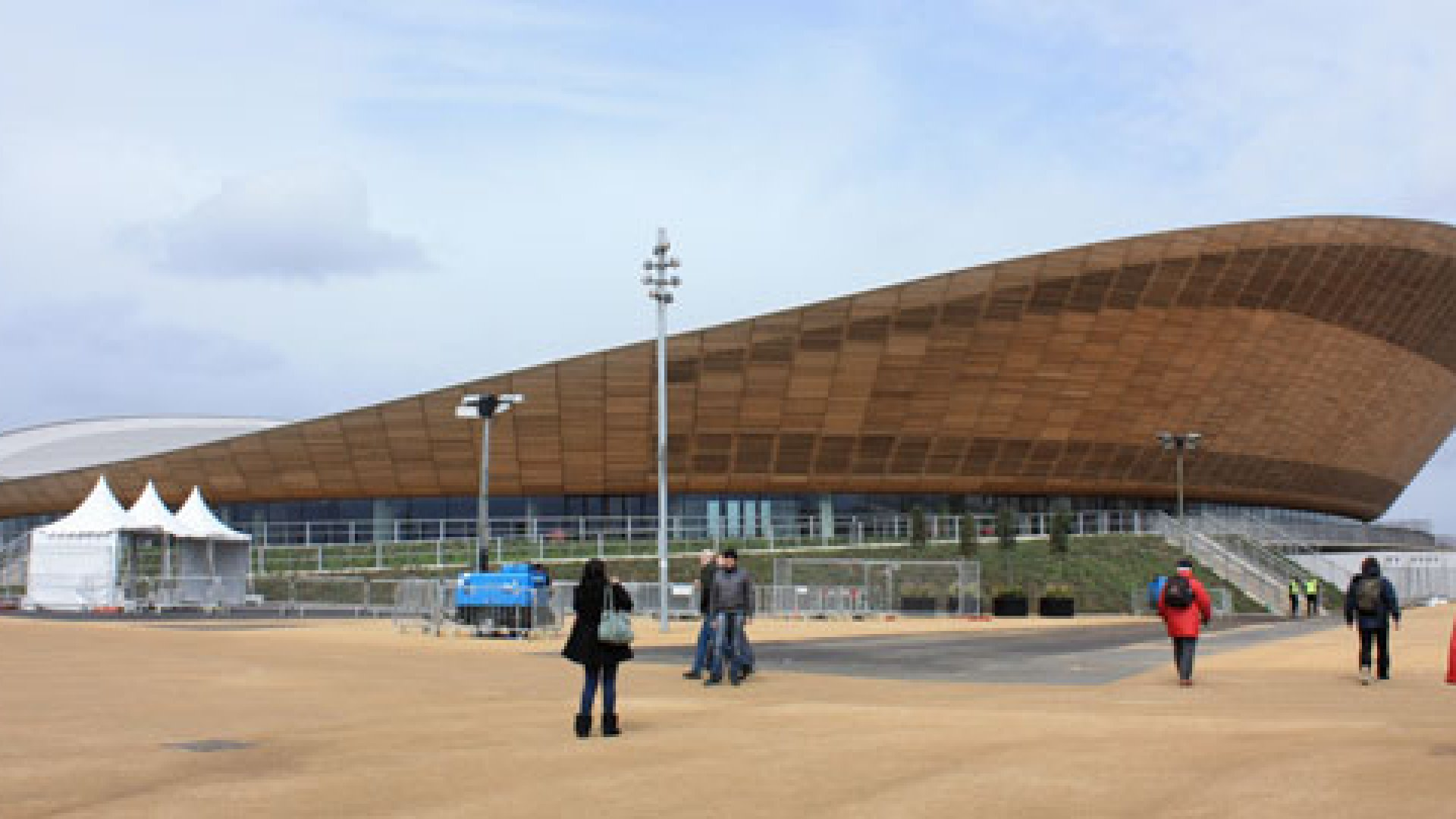 London's Olympic Velodrome for the 2012 London Olympic Games, in Stratford East London.