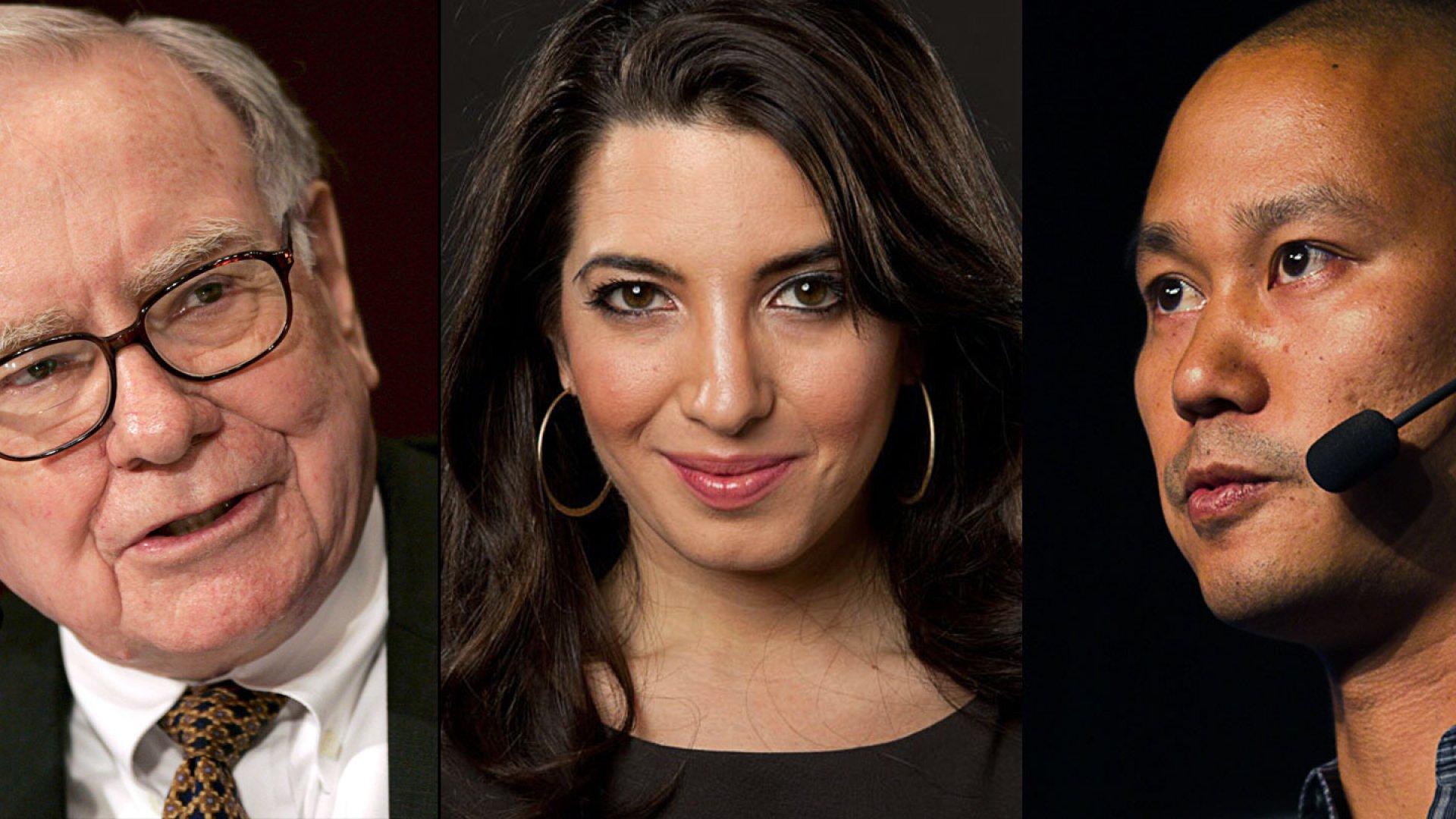 Warren Buffet, Marie Forleo, Tony Hsieh