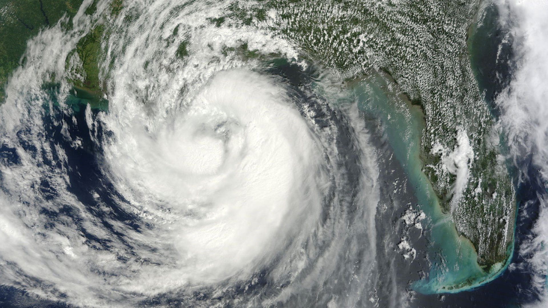 NASA's Terra satellite captured this image of Tropical Storm Isaac on Aug. 28 as it was moving northwest through the Gulf of Mexico.