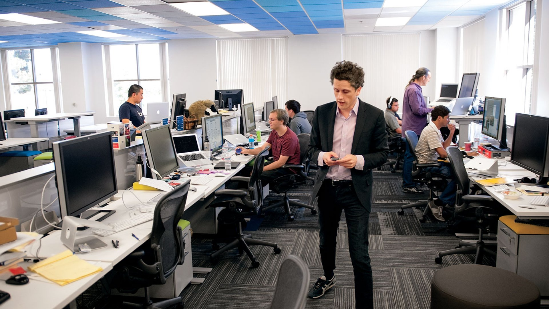 <b>Working Together:</b> No one at Box has a private office, not even Aaron Levie, the CEO.