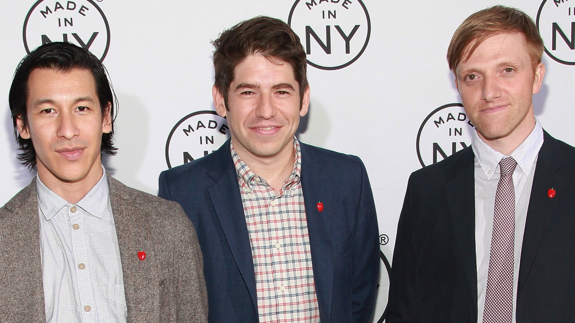 Kickstarter co-founders Perry Chen, Yancey Strickler, and Charles Adler attend the 2012 Made in NY awards.
