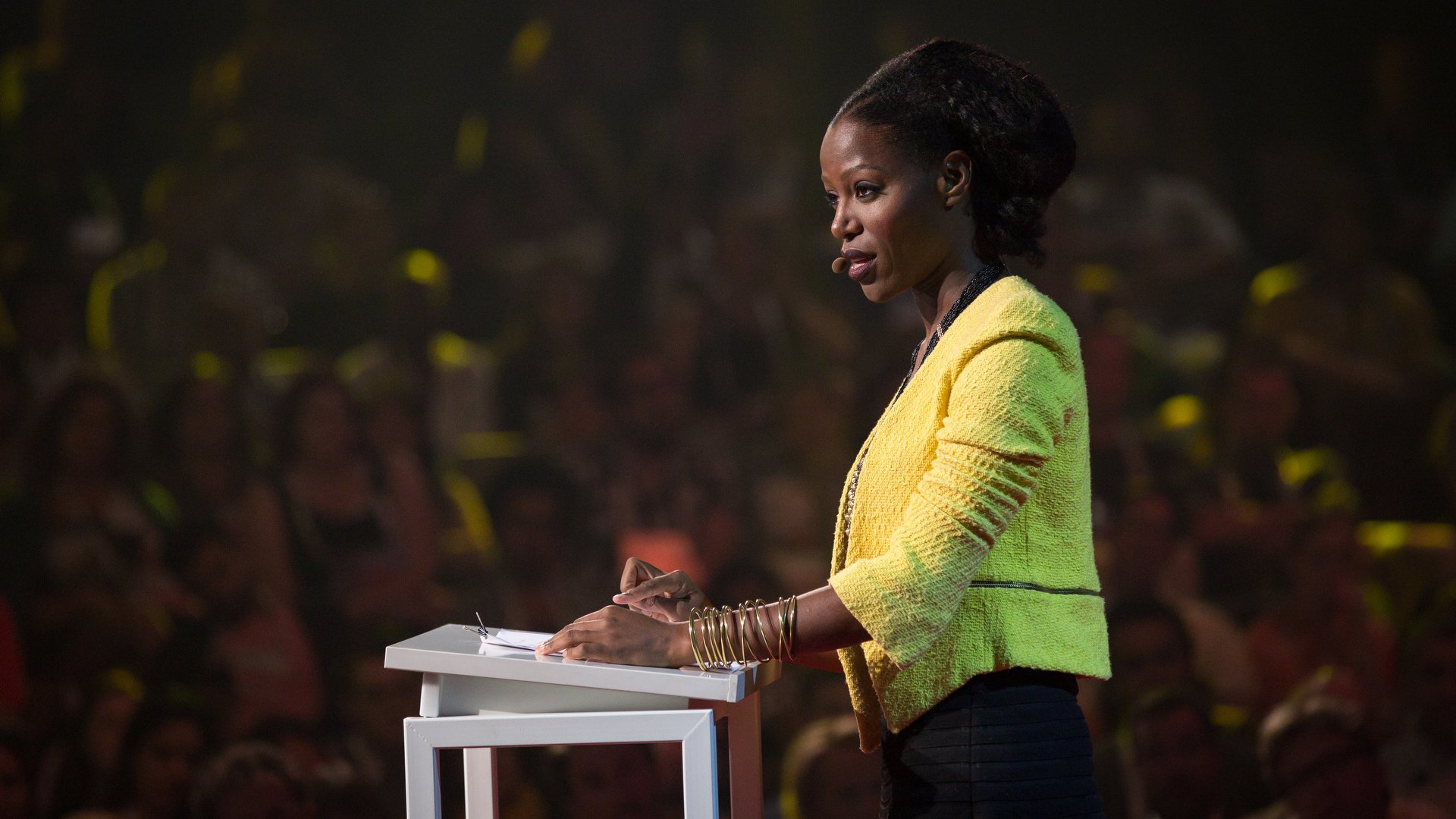 Taiye Selasi speaking at TEDGlobal 2014, South, Session 3 - Crossing Borders, October 5-10, 2014, Rio de Janeiro, Brazil.
