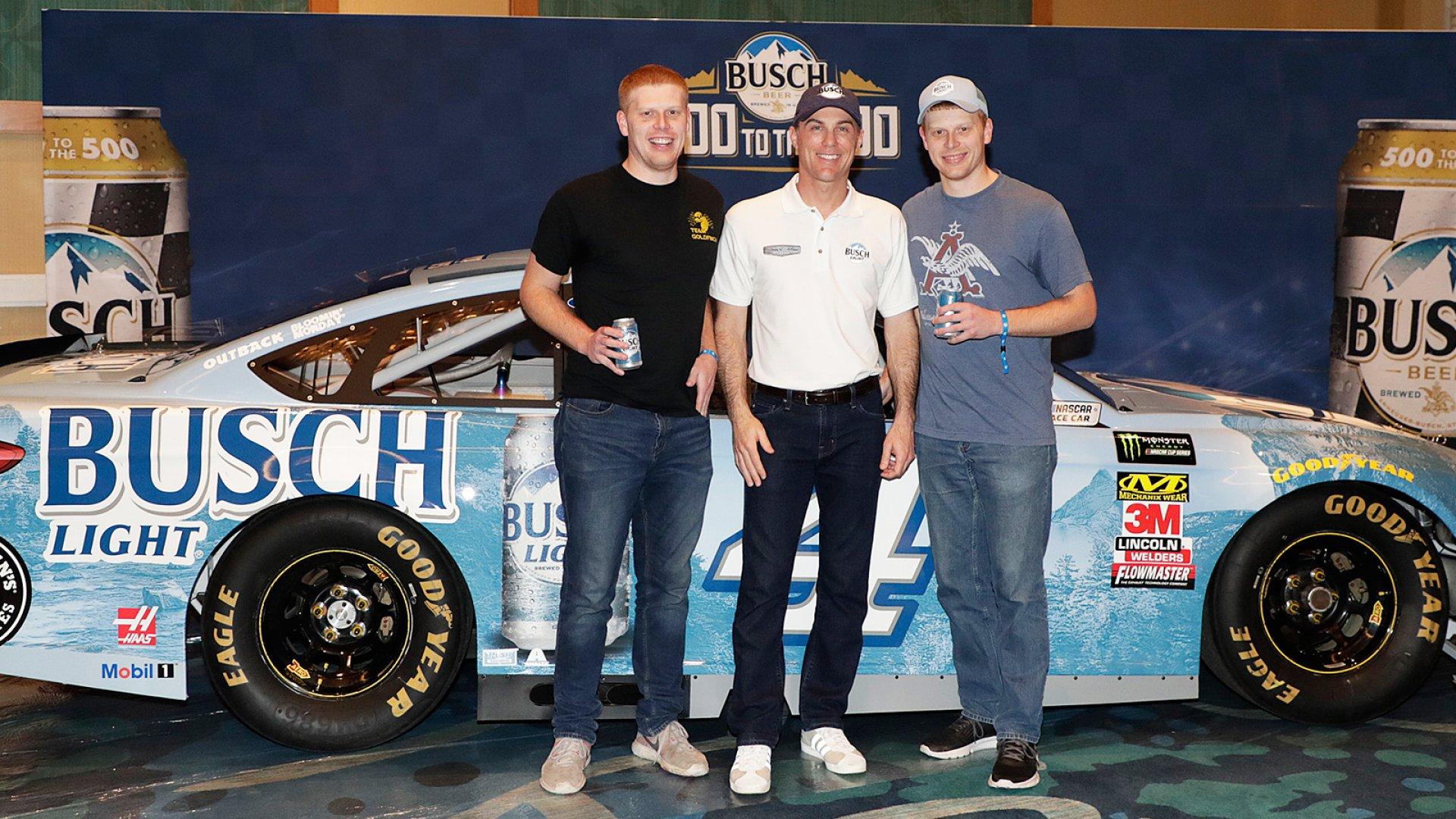 Lucas Bauer (left), Kevin Harvick, Jacob Bauer.