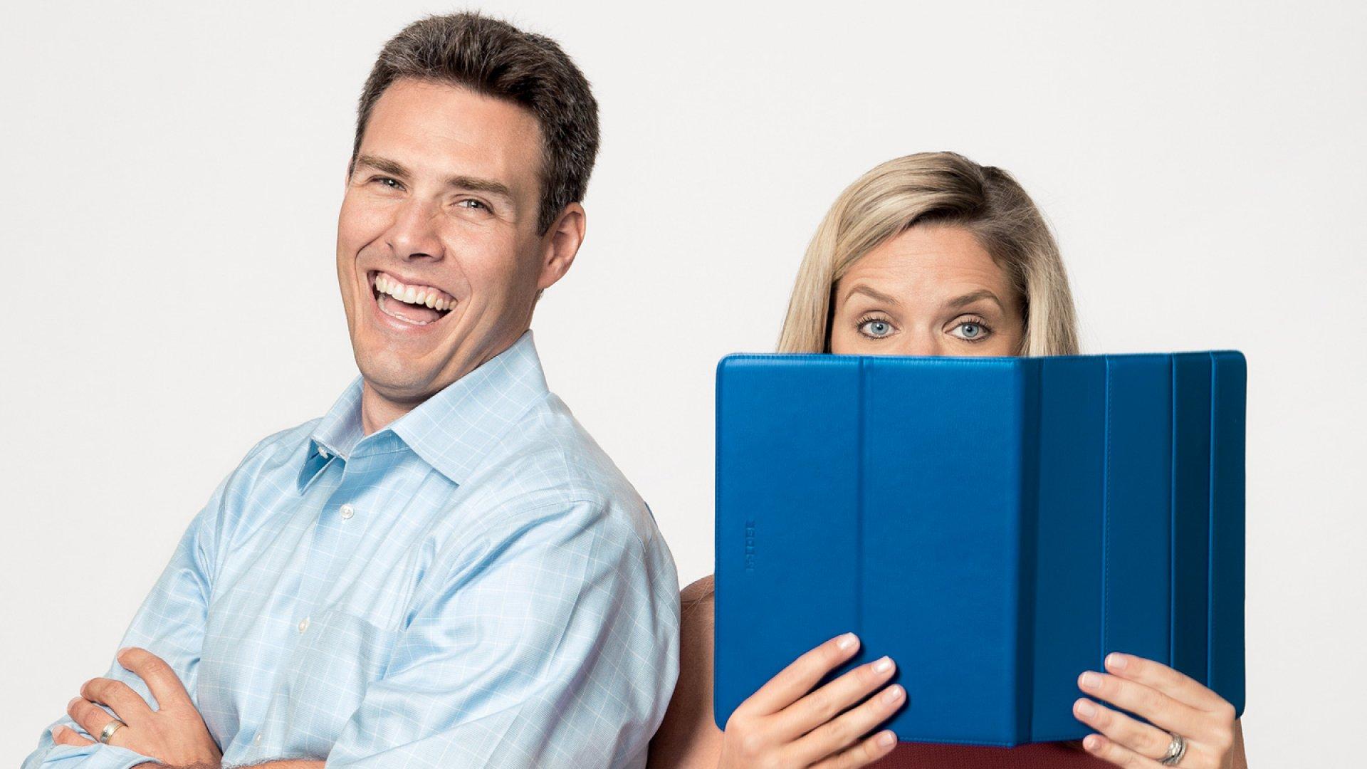 <b>Eureka Moment</b> Patrick Mish found inspiration in his wife Devon's fondness for digital books.