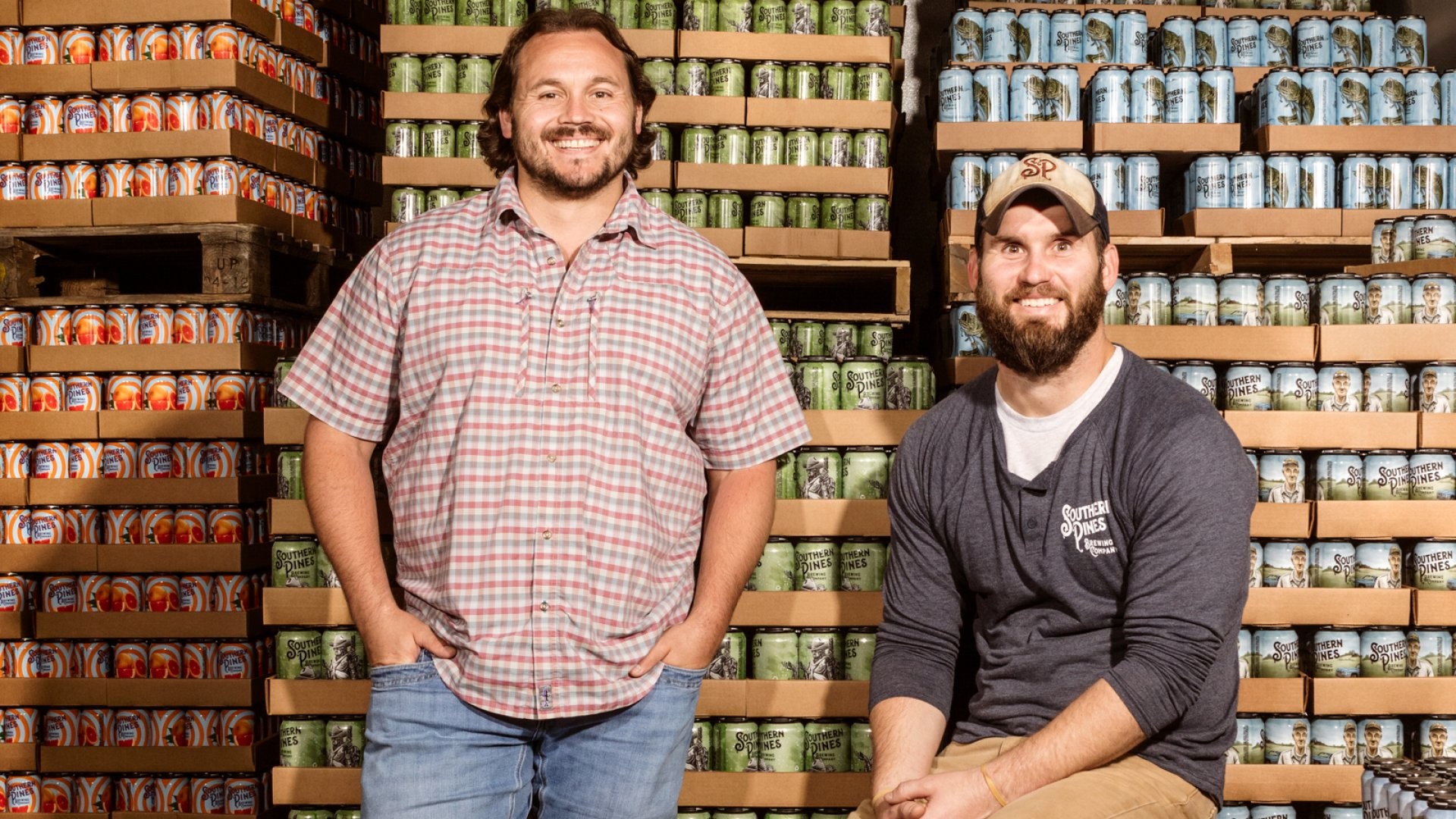 Southern Pines Brewing co-founders Micah Niebauer (left) and Jason Ginos.