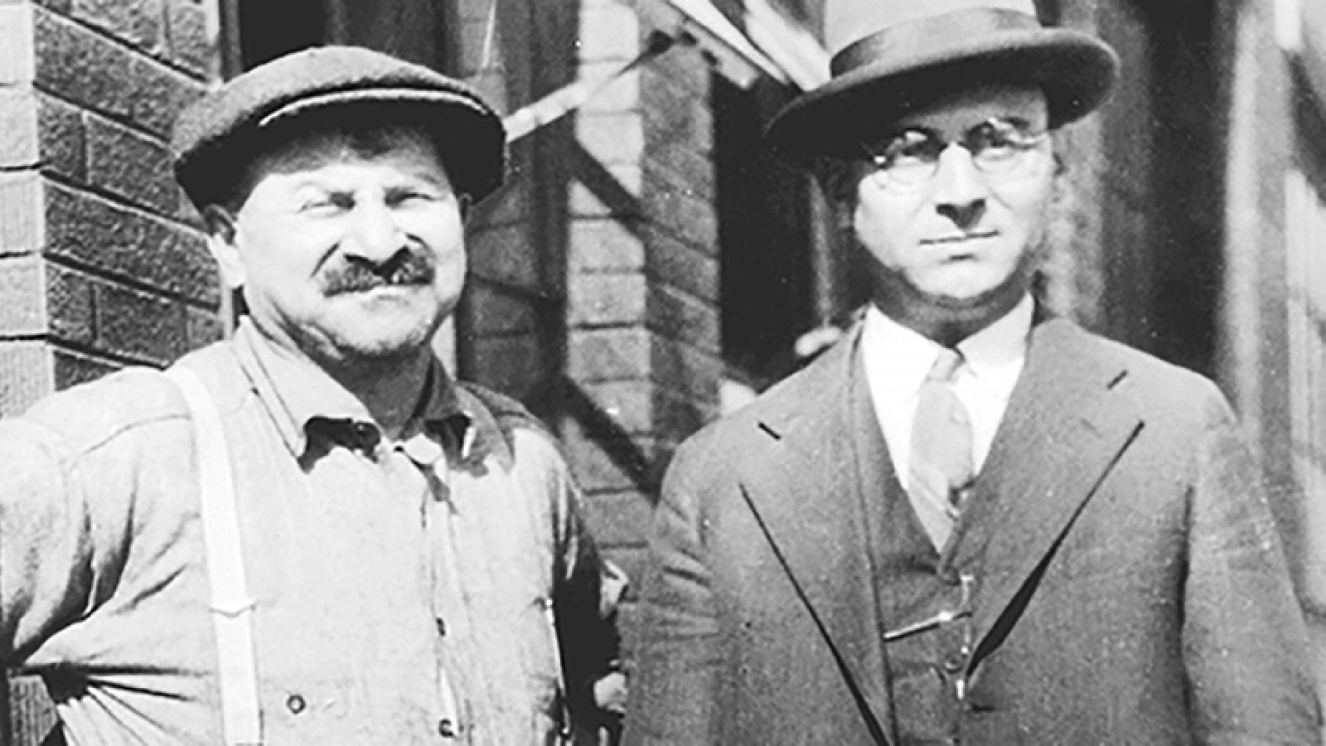Leopold and Louis Katz in 1926. They built a company as durable as their plumbing.