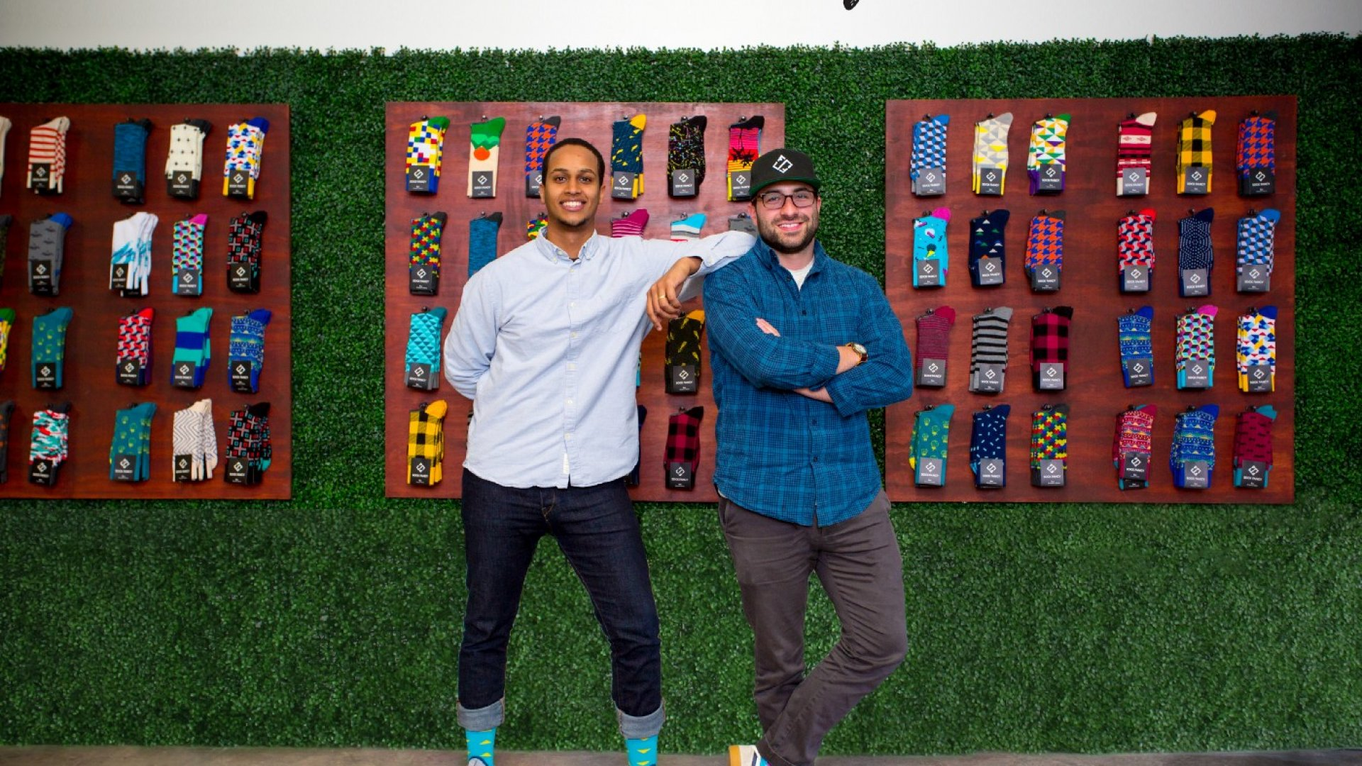 Futhum Tewolde and Stefan Lewinger, co-founders of online sock subscription company, Sock Fancy.