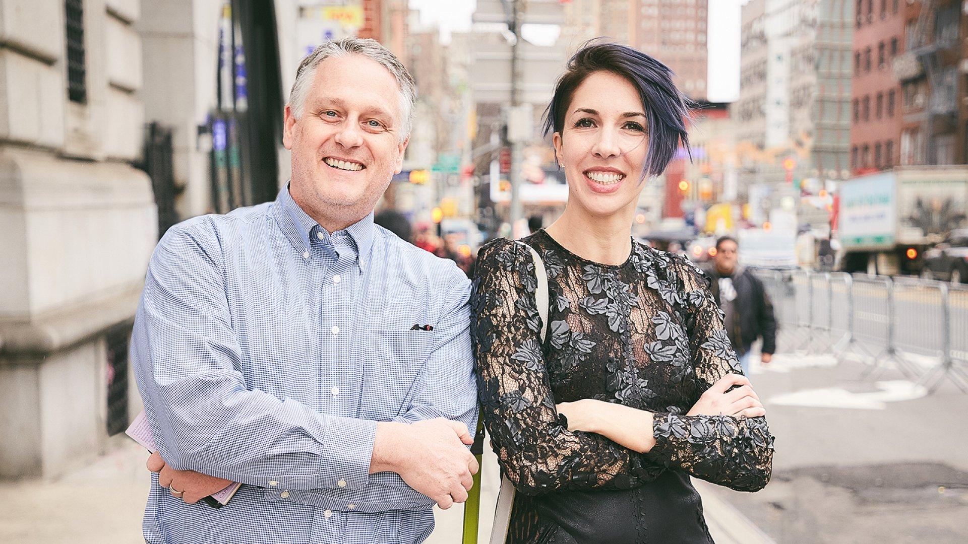 Rob Marsh (left) and Kira Hug, the founders of The Copywriter Club.