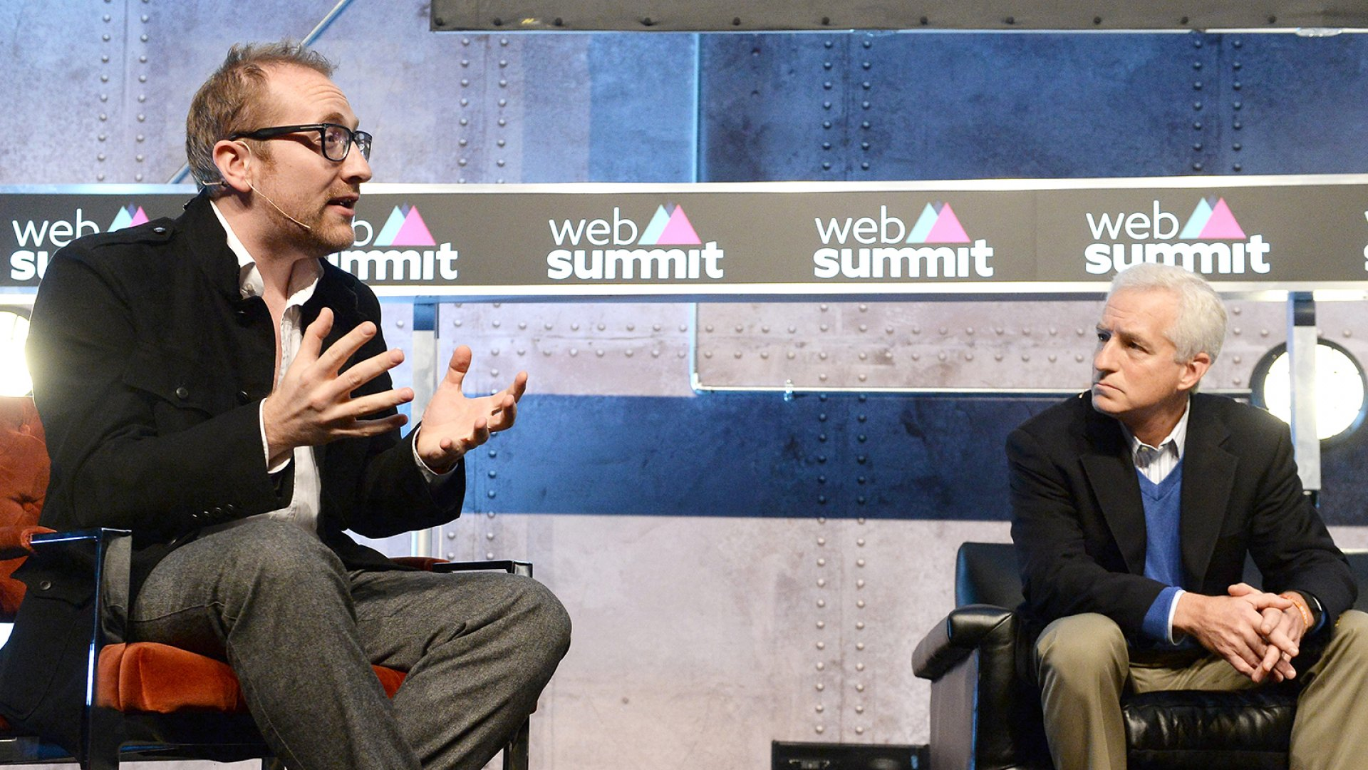 Inc.'s editor-in-chief and president Eric Schurenberg on stage at the Web Summit last year.
